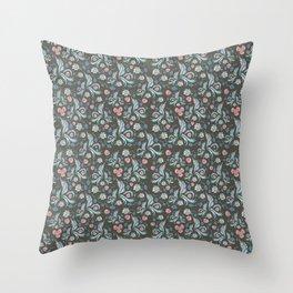 Dark Plants Throw Pillow