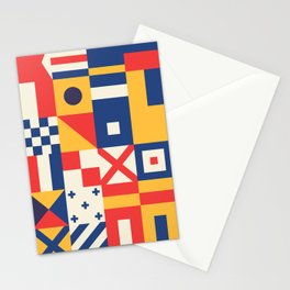 Maritime Nautical Signal Flags Stationery Cards