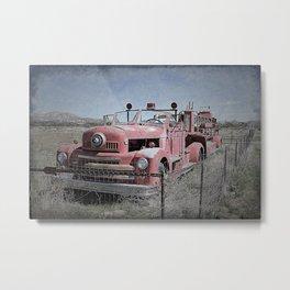 Vintage Fire Truck Metal Print