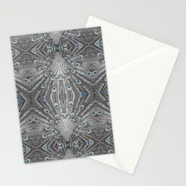Peacock tail pattern | Bird lovers gift. Stationery Cards