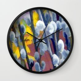 Pussy Willow Wall Clock