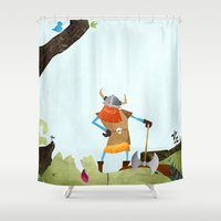 hero Shower Curtains featuring Hero Shot by Mark Bird
