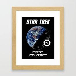 Star Trek First Contact Minimalist Poster Framed Art Print