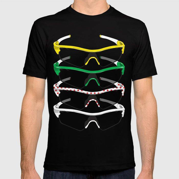 Tour De France Glasses T Shirt By Pedlin Society6