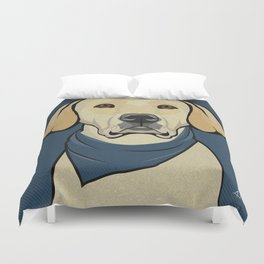 Icons of the Dog Park: Yellow Labrador Design in Bold Colors for Pet Lovers Duvet Cover