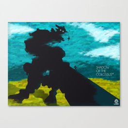 Shadow Of The Colossus Minimalist Cloudy Poster Canvas Print