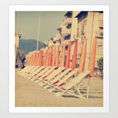 Sunday in Viareggio, Italy Art Print