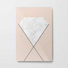 Marble diamond Metal Print