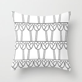 Lots of Tulips Throw Pillow
