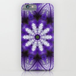 Glowing Violet Star - Iris Stepping Out Kaleidoscope iPhone Case
