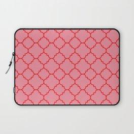 Quatrefoil - Pink & Red  Laptop Sleeve