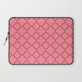 Quatrefoil - Pink & Red  Laptop Sleeve