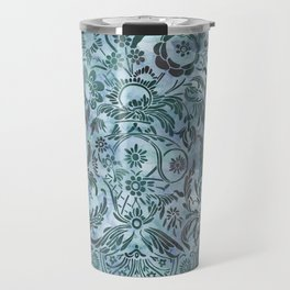 Watercolor Damask Pattern 08 Travel Mug