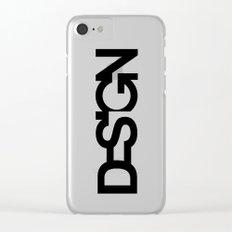 Typo Design Clear iPhone Case