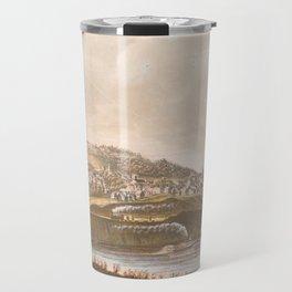 Vintage Pictorial View of Augusta ME (1854) Travel Mug