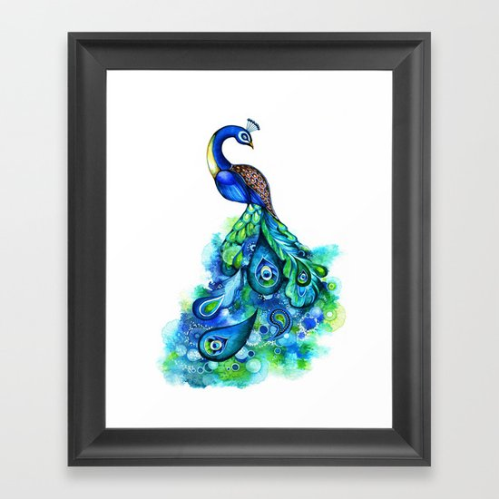 Abstract Peacock Framed Art Print