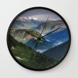 The Mountains of Glacier National Park Wall Clock