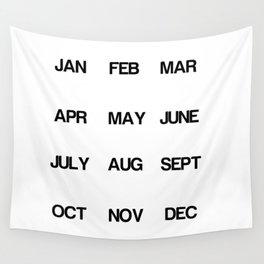 Calendar Wall Tapestry