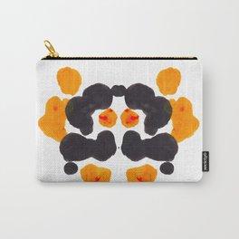 Orange & Black Inkblot Rorschach Diagram Carry-All Pouch
