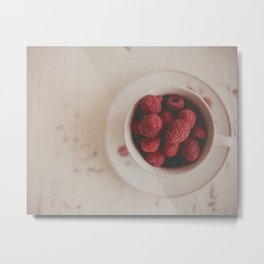 Raspberries Photograph #raspberryprint #foodprint #fooddecor #kitchendecor Metal Print