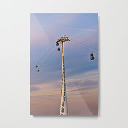 Thames cable car Metal Print