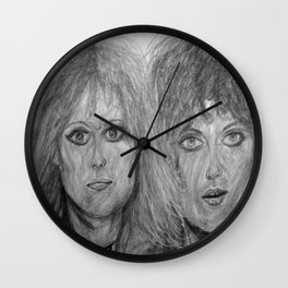 The eyes of Heart Wall Clock