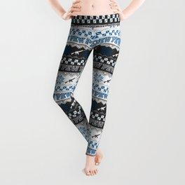 Pew Pew Gun Ugly Christmas Sweater Pattern Leggings