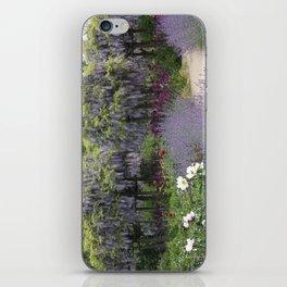 Blue Flowergarden With Wisteria iPhone Skin