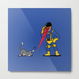 Cats & Lasers Metal Print
