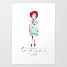 Beatrix Potter Dedication Illustration Art Print