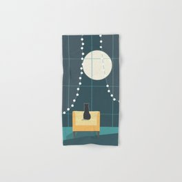Cat and the Moon Hand & Bath Towel