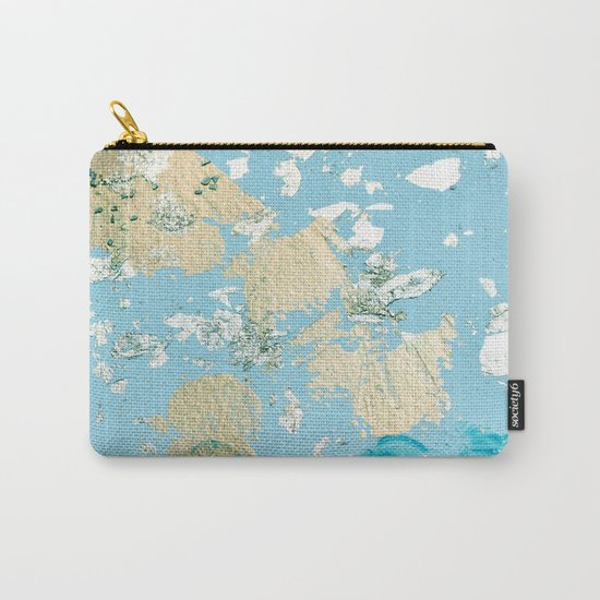 Gold Abstract Modern Painting Carry-All Pouch