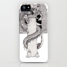 Dot shaded dragon iPhone Case