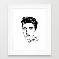 elvis Framed Art Prints featuring Elvis! by John Medbury (LAZY J Studios)