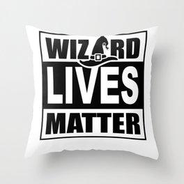 Wizard Lives Matter Retro Halloween Sorcerer Light Throw Pillow