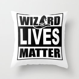 Wizard Lives Matter Retro Halloween Sorcerer Light Throw Pillow