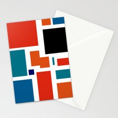 Modern Mondrian (white) Stationery Cards