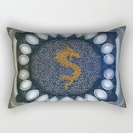 Golden chinese dragon Rectangular Pillow