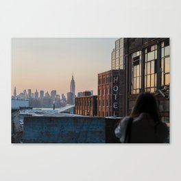 New York City Skyline From Williamsburg Canvas Print