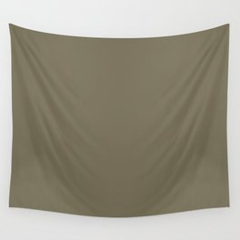 Martini Olive | Pantone Fashion Color | Fall : Winter 2018 | New York and London | Solid Color | Wall Tapestry