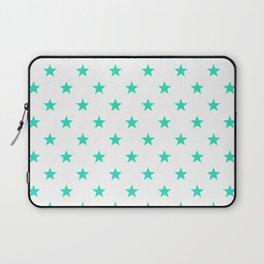 Stary stars - Tiffany blue stars pattern Laptop Sleeve