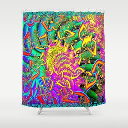 Like Candy Psychedelic 3D Abstract Shower Curtain