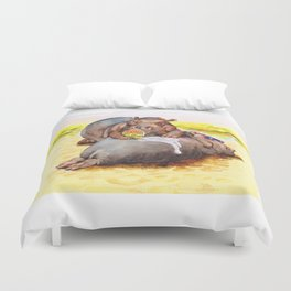 hippo sunblock Duvet Cover