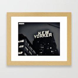 Nu Yawker. Framed Art Print