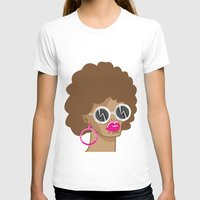afro T-shirts featuring Afro by Zenga N