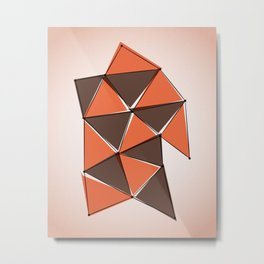 Origami 3 Metal Print