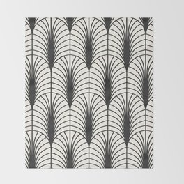 Arches in Black and White Throw Blanket