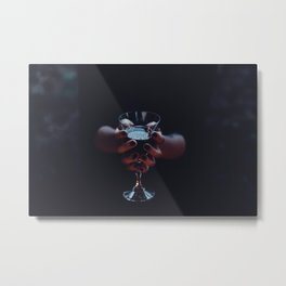 Alcoholic Hands Metal Print
