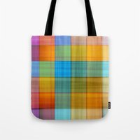 fabric Tote Bags featuring Fabric by RingWaveArt