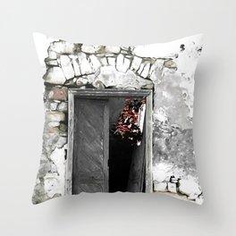 CRETAN DOOR no3-c Throw Pillow